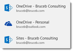 Browsing OneDrive & Sharepoint from Word