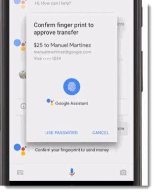 Google Assistant - money transfer