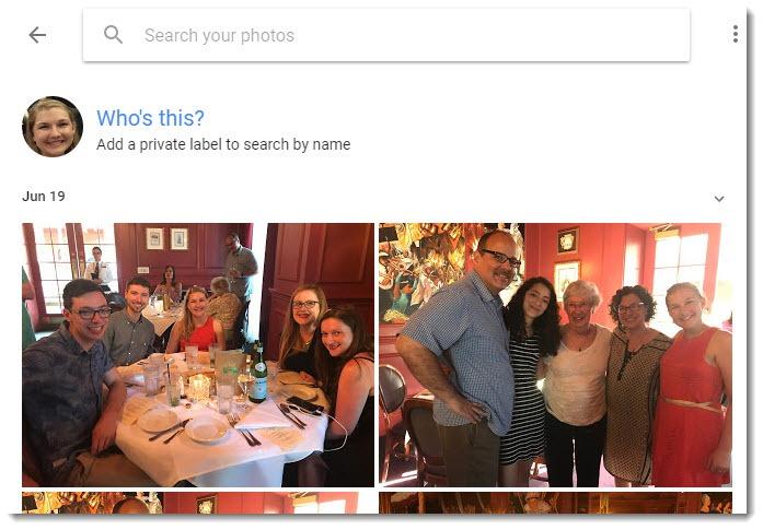 Google Photos - who's this