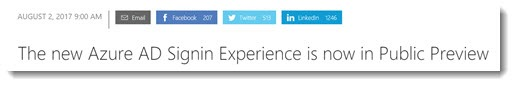 Azure AD sign-in experience