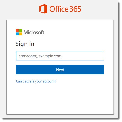 Office 365 - new sign in screen