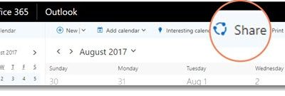 Improved Calendar Sharing For Office 365 Users