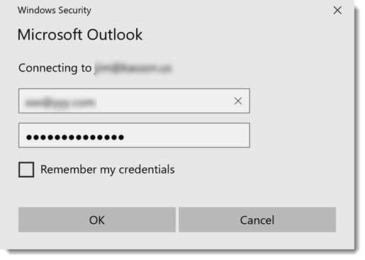 Outlook And The Never-Ending Password Prompt