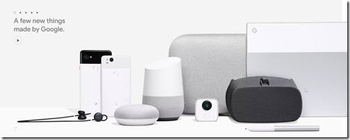 Google's new hardware devices 2017