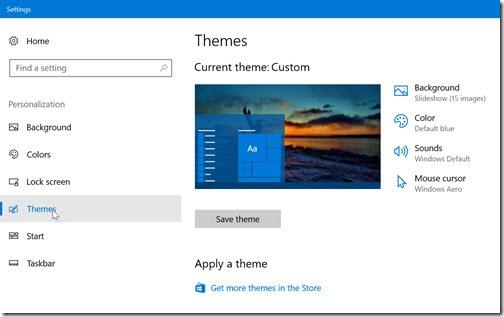 Windows 10 Settings - Themes