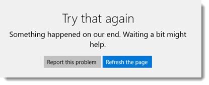 Windows Store search error