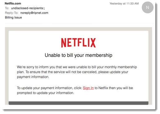 Spam 2017 - Netflix