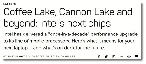Intel processor lineup 2018