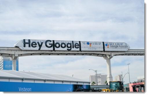 Google Assistant - CES monorail