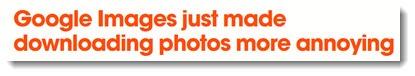 Google Images headline