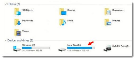 Windows 10 - OEM partition
