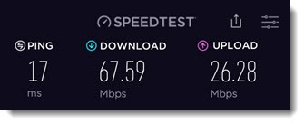 Internet speed test - Ookla app