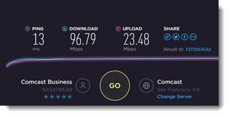 Internet speed test - Ookla online