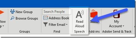 Office read aloud - Outlook