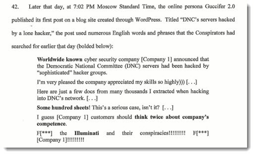 Russia cyberattack - indictment paragraph 42