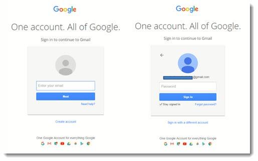 Google login - password prompt