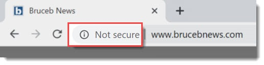 "Chrome warning that website is ""not secure"""