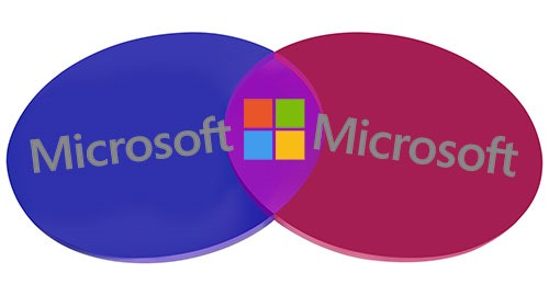 Overlapping Microsoft personal and business accounts