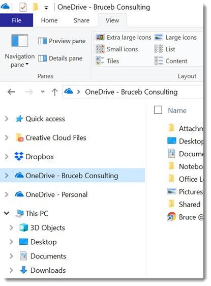 OneDrive & Dropbox in File Explorer