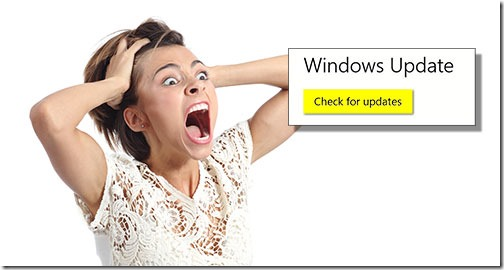 Windows update May 2018 - beware the scary button