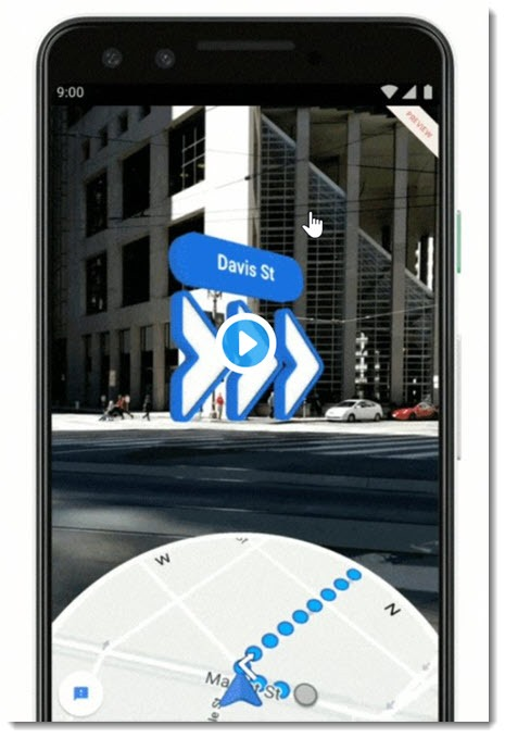 Google Maps - pedestrian directions with AR