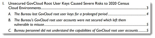 Census bureau security audit - Inspector General report