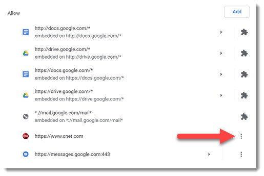 Chrome notifications - remove selected sites