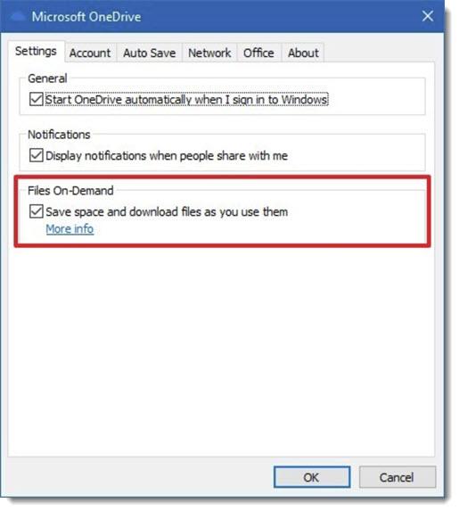 OneDrive - turn off Files On Demand