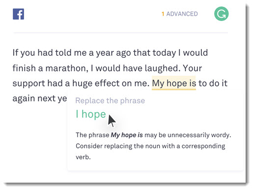 Grammar checking with Grammarly - real-time suggestions with explanations