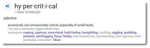 Hypercritical reviews - magnifying small faults to get clicks