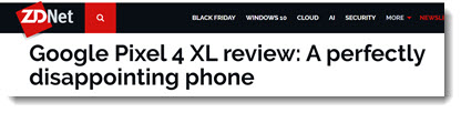 """Google Pixel 4 XL review: A perfectly disappointing phone"" - ZDNet"