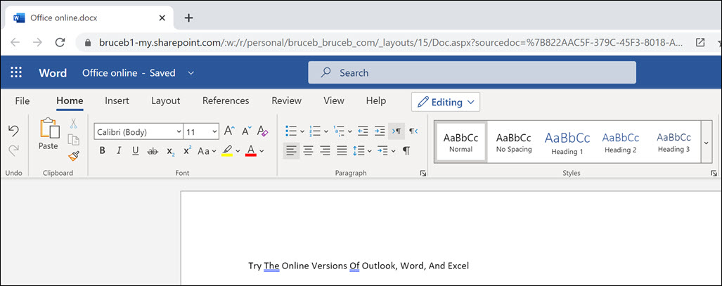 Try The Online Versions Of Word, Excel, And Powerpoint